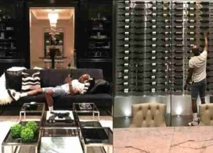 Floyd Mayweather Moves Into His New $26M Mansion In Beverly Hills, Shows Off His Amazing Wine Cellar (Photos)